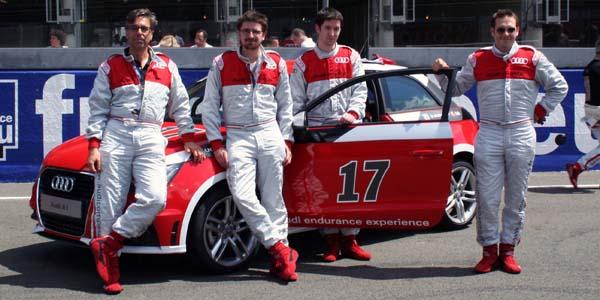 L'équipe Evo et Dunlop au Mans