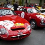 Rarissime Alfa TZ1, aussi efficace que les grosses Ferrari grâce à son poids plume.