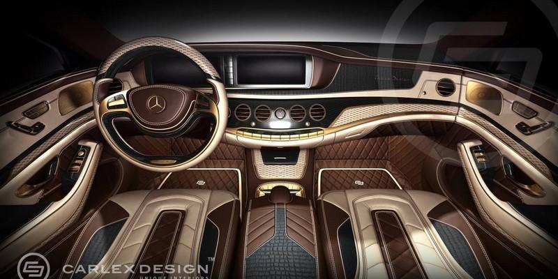 Mercedes classe s by carlex a pique speedfans for Mercedes classe r interieur