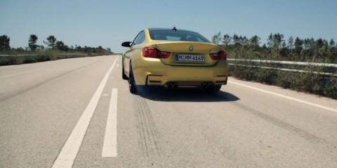 BMW M4 burnout