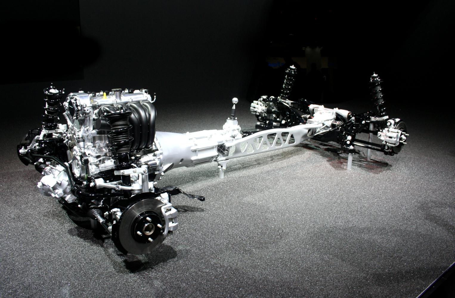 Châssis, trains roulants et groupe motopropulseur : Mazda MX-5
