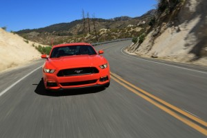 2015-Mustang-EcoBoost-Orange-Driving-001