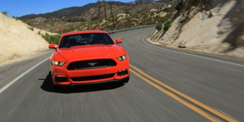 2015-Mustang-EcoBoost-Orange-Driving-001