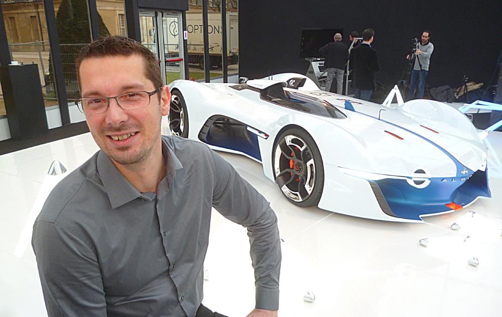 Antony Villain, directeur du design Alpine