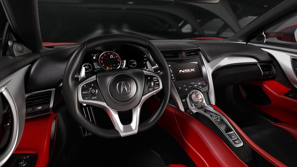 honda NSX 2015 cockpit