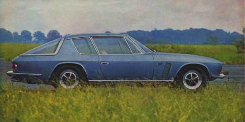 Marque anglaise, design italien (Michelotti), moteur américain (Chrysler) : la Jensen FF est un savoureux mélange.
